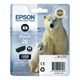 Cartouche d'encre Noir Photo 26 - T2611 - C13T26114012 | Epson
