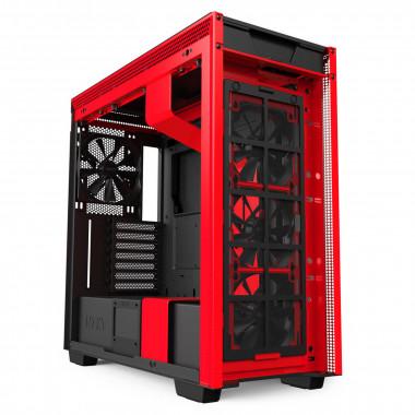 H710 Noir/Rouge - MT/Sans Alim/E-ATX   NZXT