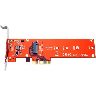 PCI-Express 4x pour un SSD M.2 NVMe | Roline