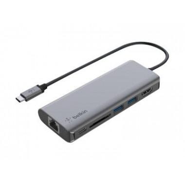 USB-C 6 Ports - 1xRJ45/1xUSB-C/1xSD/2xUSB-A/1xHDMI - AVC008BTSGY   Belkin