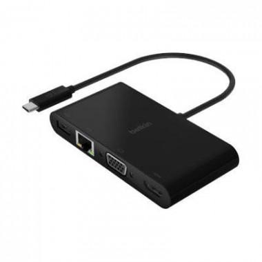 Station D'accueil USB-C  - RJ45/HDMI/VGA/USB-A/PwD - AVC004BTBK | Belkin