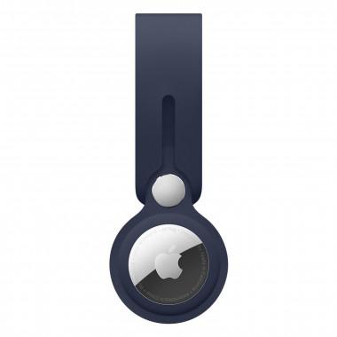 Lanière AirTag - Polyuréthane - Bleu Marine  - MHJ03ZMA   Apple