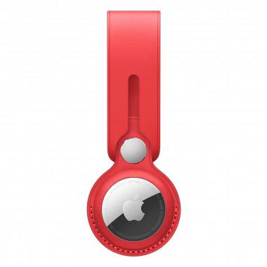 Lanière AirTag - Cuir - Rouge - MK0V3ZMA   Apple