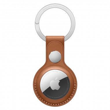 Porte-clés AirTag - Cuir/Acier inoxydable - Marron - MX4M2ZMA   Apple