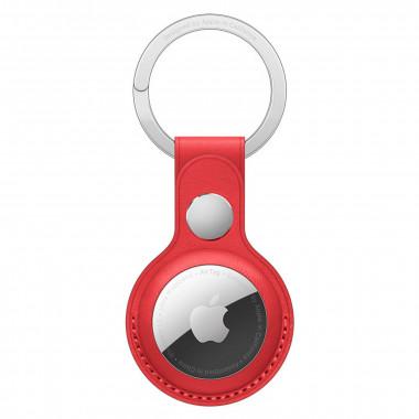 Porte-clés AirTag - Cuir/Acier inoxydable - Rouge - MK103ZMA   Apple