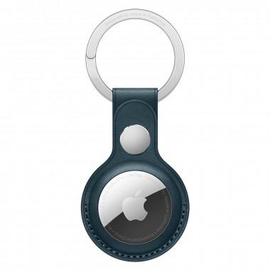 Porte-clés AirTag - Cuir/Acier inoxydable - Bleu - MHJ23ZMA   Apple