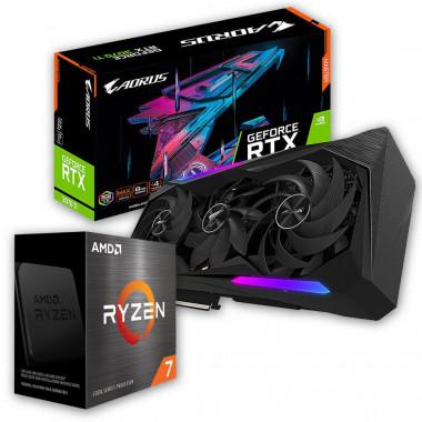 Pack R7-5800X + AORUS RTX3070 TI MASTER 8G -  | Générique