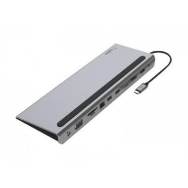 USB-C 11 Ports - Jack/VGA/SD/RJ45/USB/DP/HDMI/PwD - INC004BTSGY | Belkin