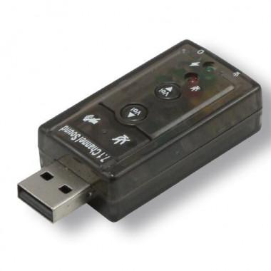 Mini carte son USB surrond 7.1 entree/sortie jack  - USB2257 | MCL Samar