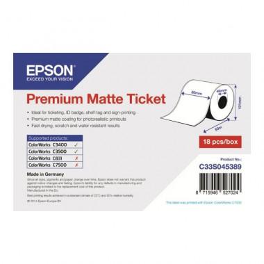 Rouleau Papier matte 80mmx50m - C33S045389 - C33S045389 | Epson