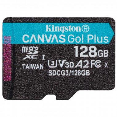 Micro SDHC 128Go C10 A2 V30 + Adapt SDCG3/128GB - SDCG3128GB   Kingston