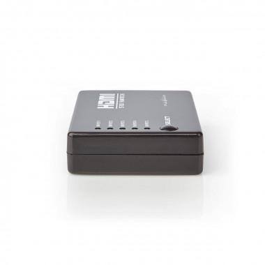 Commutateur HDMI 1.4 - 4 entrées/1 sortie manuel - VSWI3455BK   Nedis