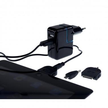 Chargeur Univ. pour tablette Samsung/Apple +connec - BLUPW2TAB | Bluestork