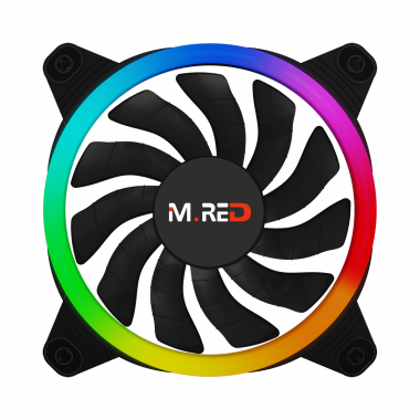 VAR-12A Ventilateur Rainbow ARGB Double Ring 12cm - VAR12A++3110CYB | M.RED