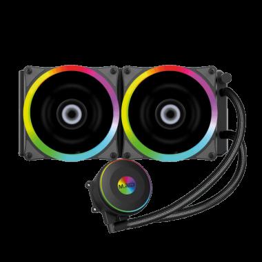 WaterCooling AIO 240mm RGB Rainbow - AIRW-24 - AIRW24++3110CYB   M.RED