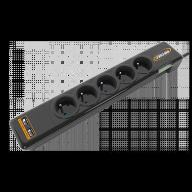 Parasurtenseur 5 prises + USB - S5 USB NEO  | Infosec