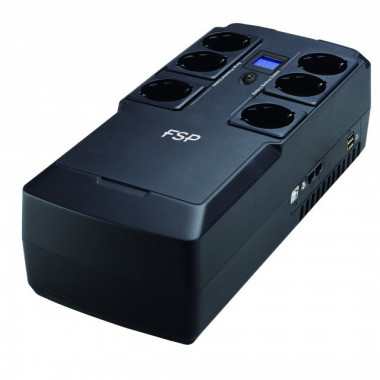 Nano Fit 800 - 800VA 6 prises + 2 USB + 2 RJ45 | Fortron (FSP)