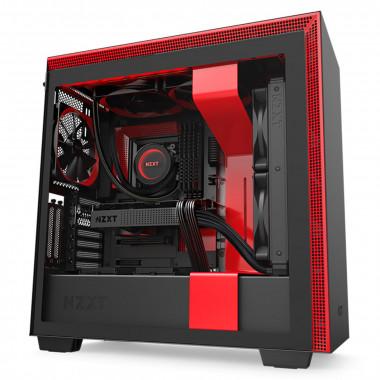 H710i Noir/Rouge - MT/Sans Alim/E-ATX   NZXT