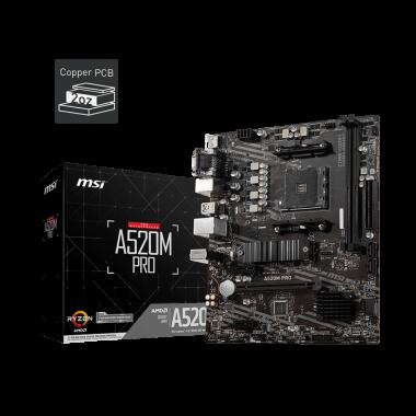 A520M PRO - A520/AM4/mATX   MSI