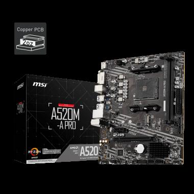 A520M-A PRO - A520/AM4/mATX | MSI