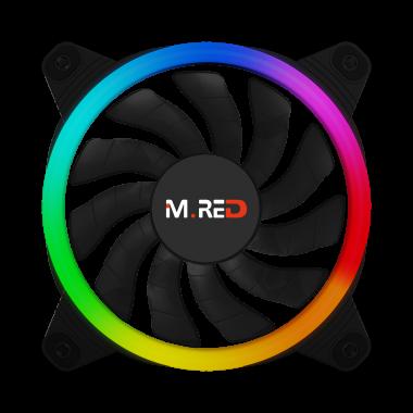 VAR-12A Ventilateur Rainbow ARGB Double Ring 12cm | M.RED