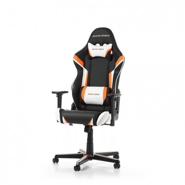 Racing R288-NOW- Noir/Blanc/Orange/Simili Cuir/3D | DXRacer