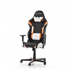 Racing R288-NOW- Noir/Blanc/Orange/Simili Cuir/3D | DXRacer