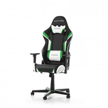 Racing R288-NEW - Noir/Blanc/Vert/Simili Cuir/3D | DXRacer