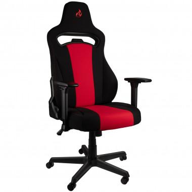 E250 Inferno Red - Noir/Rouge/Tissu/2D | Nitro Concepts