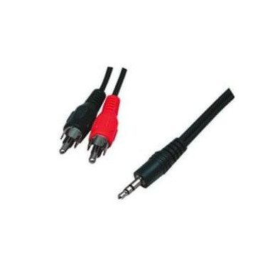 Câble Audio Jack 3.5 / 2 RCA 5m | Générique