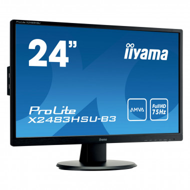 "X2483HSU-B3 - 24"" LED AMVA+/4ms/FHD/HDMI/USB | Iiyama"