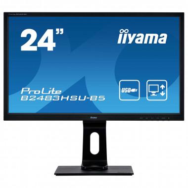 "B2483HSU-B5 - 24"" LED/1ms/FHD/HDMI/DP/HAS/USB | Iiyama"