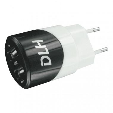 Chargeur Secteur 2 port USB 2,4A 12W - DY-AU2313W | DLH Energy