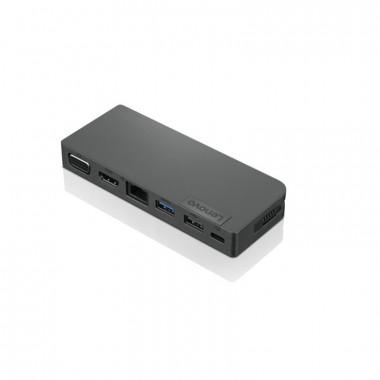 Lenovo - Concentrateur alimenté de voyage USB-C -