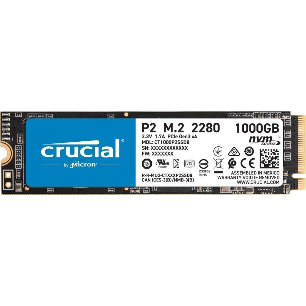 1To M.2 NVMe - CT1000P2SSD8 - P2 | Crucial