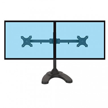 "Support à poser 2 écrans - 13"" 27"" - bras incurvé | Kimex International"