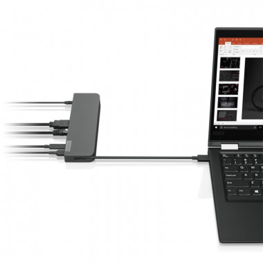 Lenovo - Mini Dock USB-C : 1 xHDMI 2.0 - 1 xVGA -