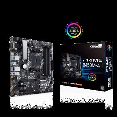 PRIME B450M-A II - B450/AM4/mATX  | Asus
