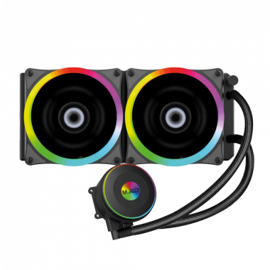 WaterCooling AIO 240mm RGB Rainbow - AIRW-24 | M.RED