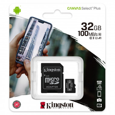Micro SDHC 32Go Class 10 + Adapt SDCS2/32GB | Kingston