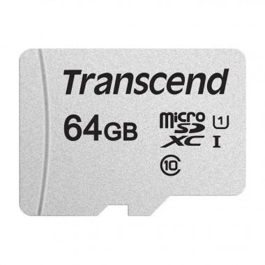 Micro SDHC 64Go Class 10 + Adapt TS64GUSD300S-A | Transcend