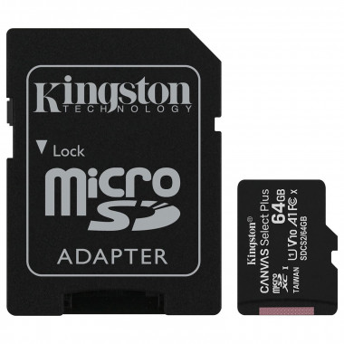 Micro SDHC 64Go Class 10 + Adapt SDCS2/64GB | Kingston