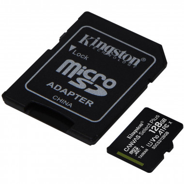 Micro SDHC 128Go Class 10 + Adapt SDCS2/128GB | Kingston