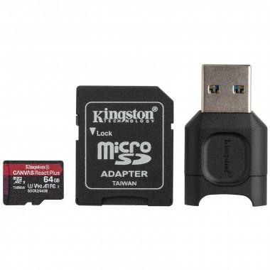 Micro SDHC 64Go C10 UHS-II V90 + Adapt MLPMR2/64GB | Kingston