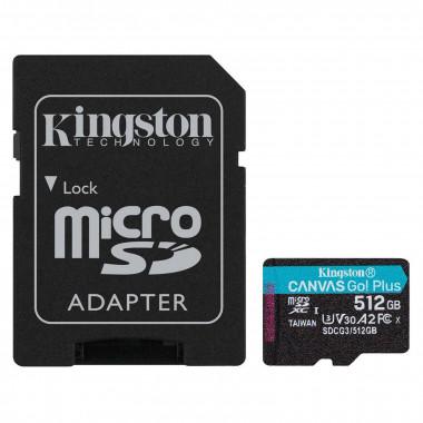 Micro SDHC 512Go C10 A2 V30 + Adapt SDCG3/512GB | Kingston