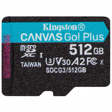 Micro SDHC 512Go C10 A2 V30 + Adapt SDCG3/512GB | Kingston