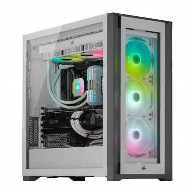 iCUE 5000X RGB Tempered White - MT/Sans Alim/ATX  | Corsair