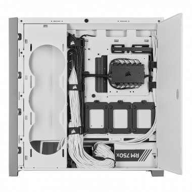 iCUE 5000X RGB Tempered White - MT/Sans Alim/ATX  | Corsair
