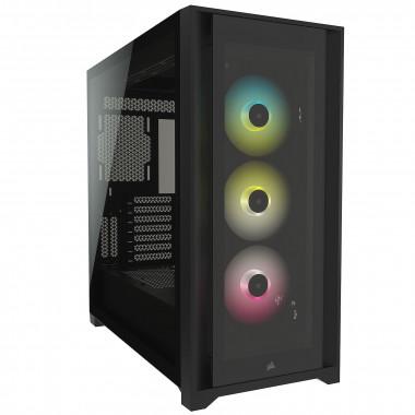 iCUE 5000X RGB Tempered Black - MT/Sans Alim/ATX  | Corsair