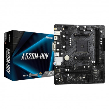 A520M-HDV - A520/DDR4/mATX   ASRock